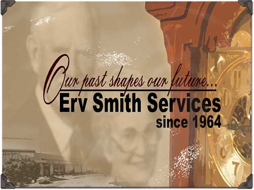 photo collage of founders, Ervin and Louise Smith.